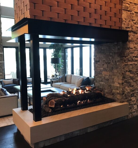 Lobby or lounge of any hotel can benefit from an Earthcore Ventless fireplace. With the ability to totally customize and be able to install in any space.
