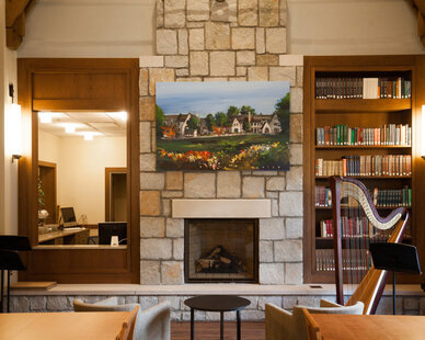 The Pace Academy Upper School in Atlanta, Georgia used Earthcore interior fireplaces to bring a warm and home-like feel for their space.