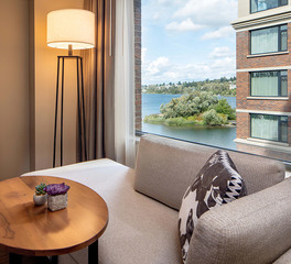 Eclectic Contract Hyatt Regency Lake Washington Renton Washington Bedroom Suite View