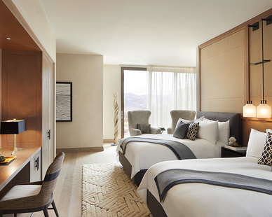 Luxury suite featuring custom furniture by Eclectic Contract at the Miraval Arizona Resort & Spa.