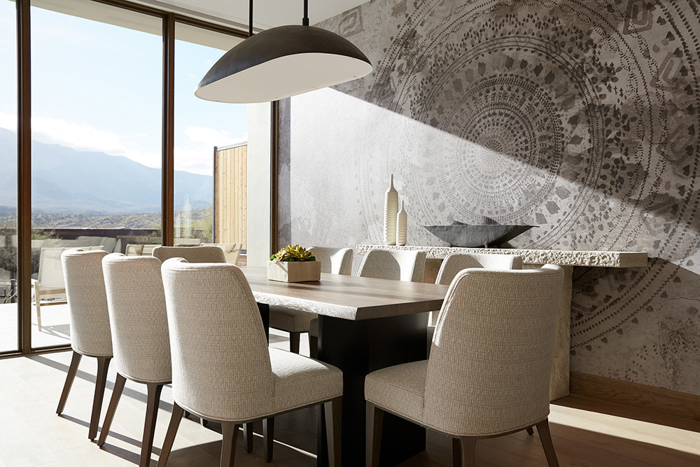 Memorable dining area featuring custom furniture by Eclectic Contract.