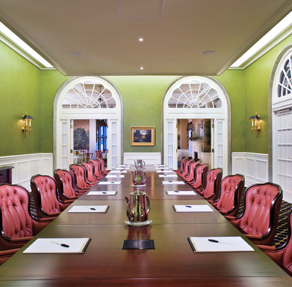 Elegant conference room with seating by Gasser Chairs.