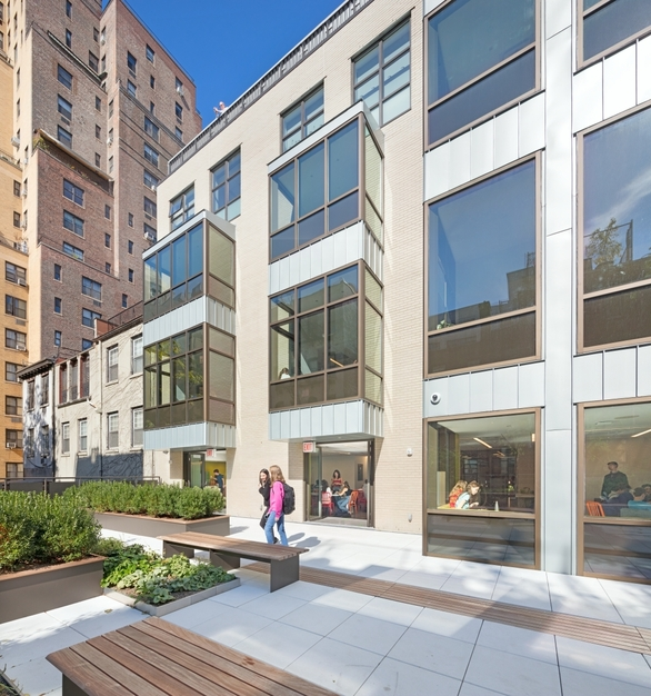 Education Building Modern Window and Glass Facade Design