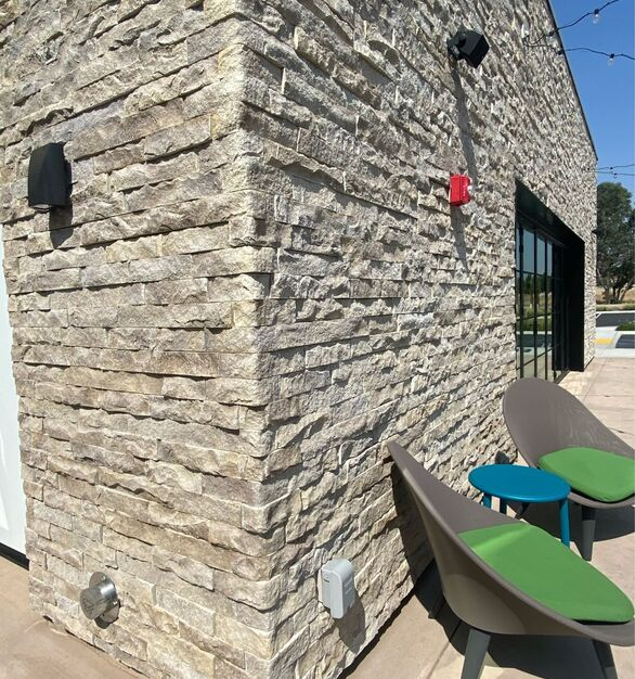 eldorado stone home2suites by hilton exterior wall materials