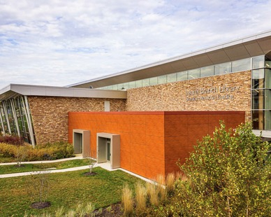 The Laurel Branch Library uses the stunning stone options from Eldorado Stone for the exterior of the building.