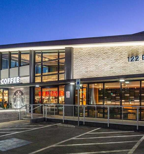 This Starbucks location in Las Vegas showcases the beautiful TundraBrick® product by Eldorado Stone in Chalk Dust.