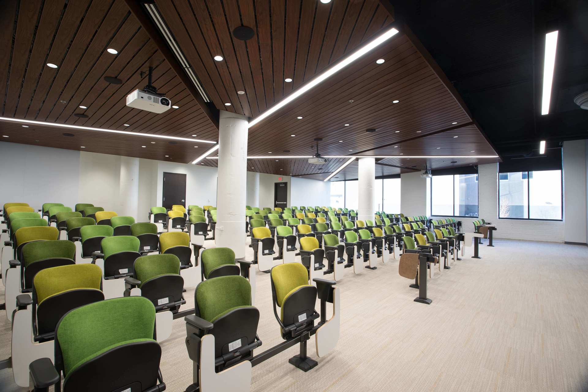 The beautiful lecture hall at the Junior Achievement of the Upper Midwest headquarters.