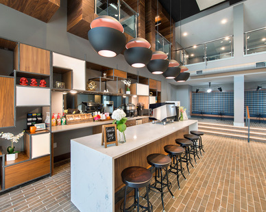 Berkley Riverfront Park is the heartbeat and crossroads of Kansas City and is the perfect place to call home, the pinnacle of urban luxury apartment living. Enjoy complimentary coffee, lattes & espressos served by your own On-Site Barista.