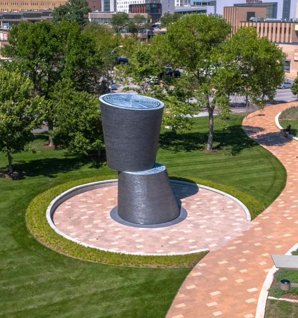 Endicott Clay Products A Monumental Journey Outdoor Public City Park Sculpture Face Brick