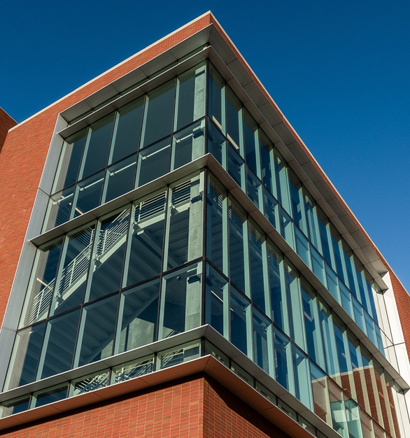 Endicott Clay Products Creighton University School of Dentistry Exterior Thin Brick and Glass Facade Envelope