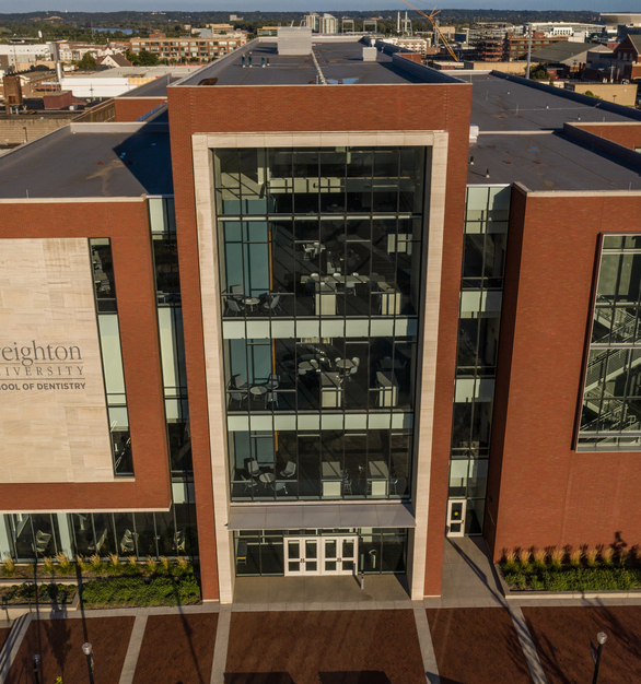 Endicott Clay Products Creighton University School of Dentistry Exterior Thin Brick and Window Facade