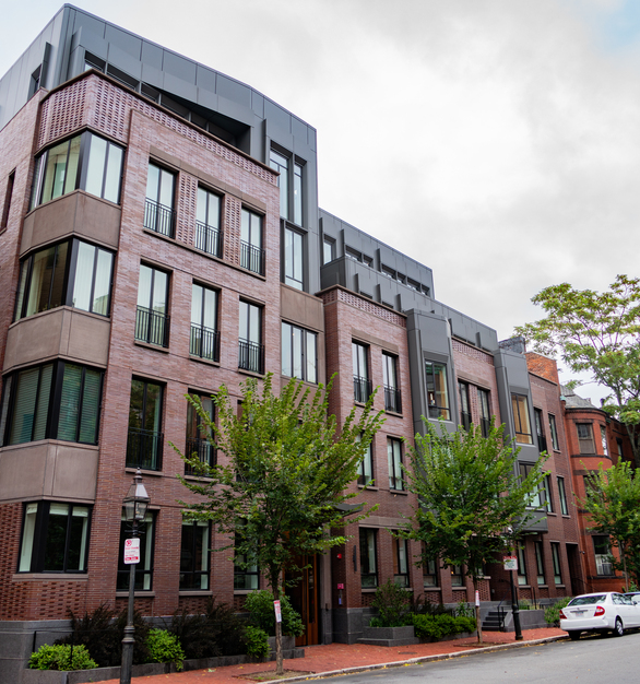 Endicott Clay Products Four 51 Marlborough Apartment Building Exterior Face Brick Facade and Window Layout Design