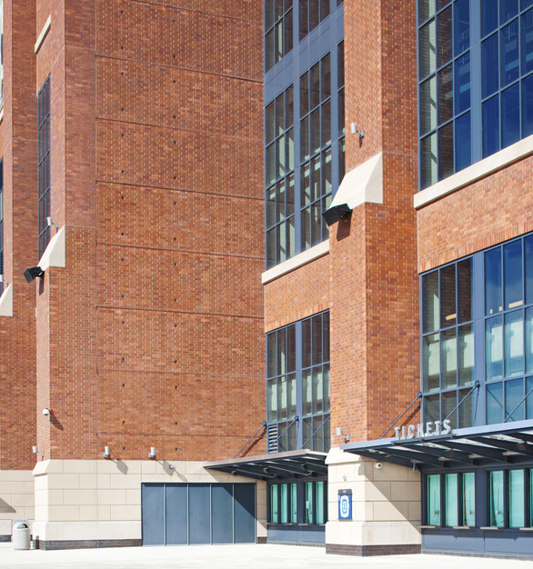 Endicott Clay Products Lucas Oil Football Stadium Thin Brick Columns and Entrance