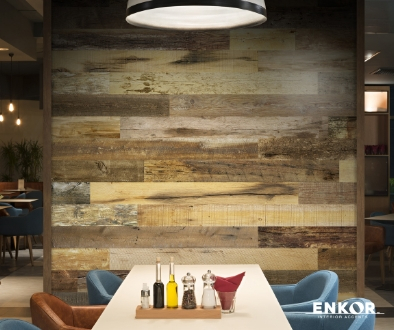 The soft backing of the wall planks protect your walls and increases sound insulation.