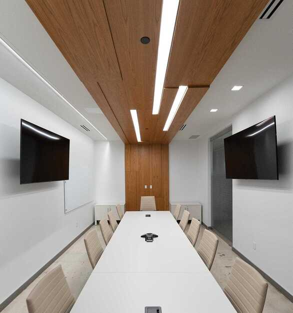 High performance solid-state recessed luminaire that blends quality of light with solid state illumination. The batwing distribution with feathered edges provides even illumination on horizontal and vertical surfaces.  Photographer: Michael Tenaglia