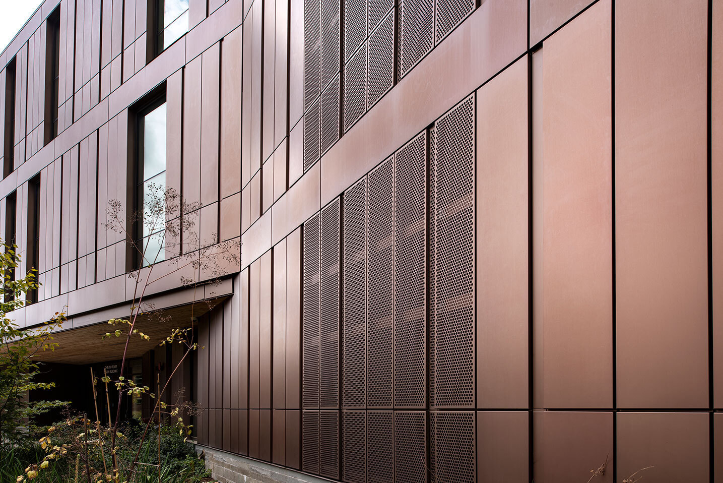 Dri Design Shadow Series metal panels add depth and definition to exterior facade cladding on any architectural design.   Individual panels (unlimited colors available) can be extended at varying depths to create texture or a dynamic variation in patterns, all while keeping the substrate and weather barrier in the same plane.  Dri-Design creates a unique, sustainable, fully-tested and economical panels.