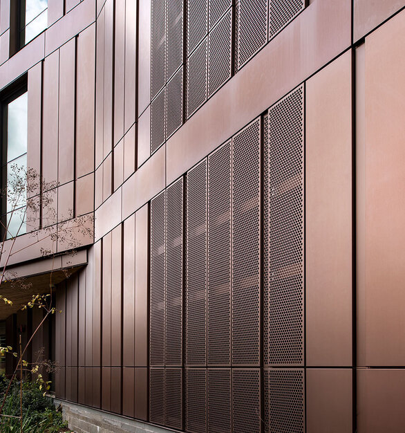 Dri Design Shadow Series metal panels add depth and definition to exterior facade cladding on any architectural design. 