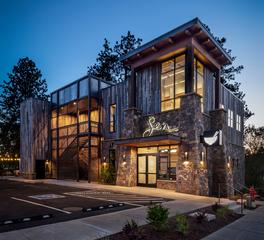 Exterior Restaurant Design, Pioneer Millworks, Barnwood Paneling