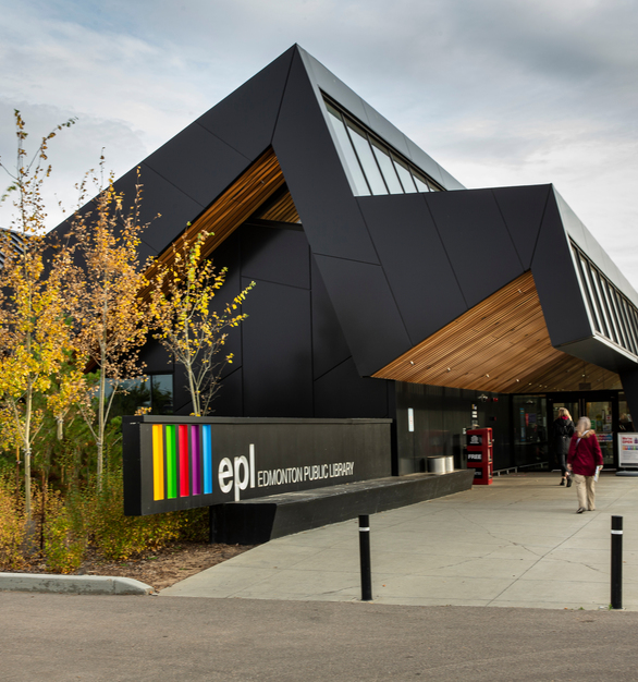 The captivating design of the Edmonton Public Library Capilano Branch has been recognized by those even outside of the city's community. The building has received the following awards: the 2020 AIA/ALA Library Building Award; the 2020 Prairie Design Award – Institution; and the 2019 Wood Design Merit Award. The library is now working towards earning a LEED Silver Certification.  Photography Credits: Jim Dobie Photography