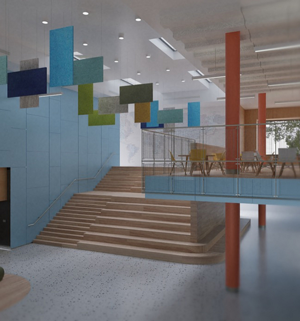 Each interior acoustic solution absorbs noise and mitigates sound reverberation, ensuring sound quality is crisp, and safe on hearing.AUTEM™ Air | Baffles | Cloudsare DECLARE certified and meet LEED v4 requirements.