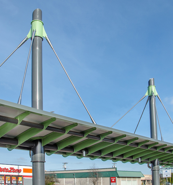 Feeney Architectural Rods used at the EMX Station.