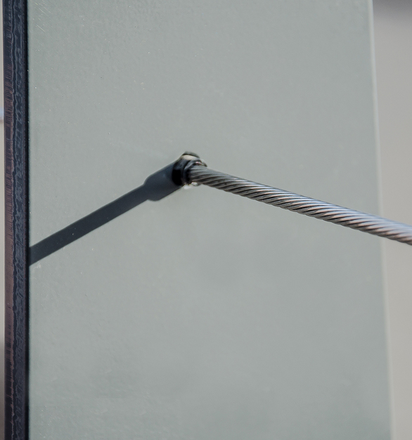 Detail of Feeney Cable Rails