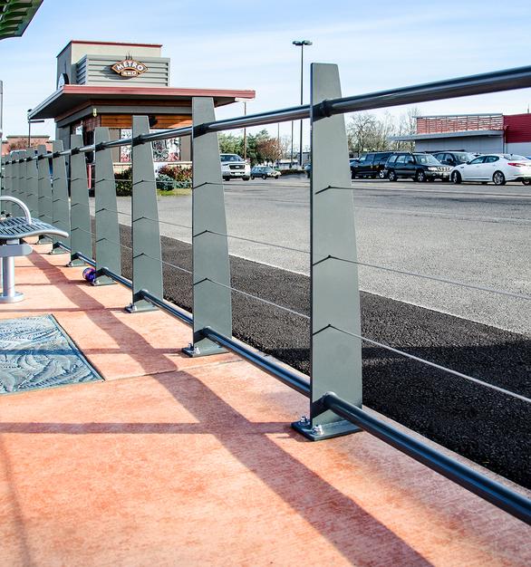 CableRail in custom fabricated metal railing