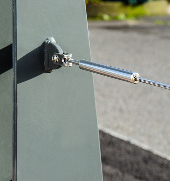 CableRail Kits are the most popular and cost effective solution for wood and metal railing frames and include everything needed to attach and tension a cable. They're designed for frames where there is access to drill through both end posts allowing the fittings to anchor to the outer faces of the posts.