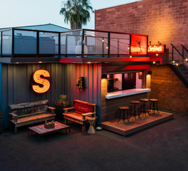 Feeney Inc Steedle Brothers Construction Man Cave Exterior Shipping Container Bar Design