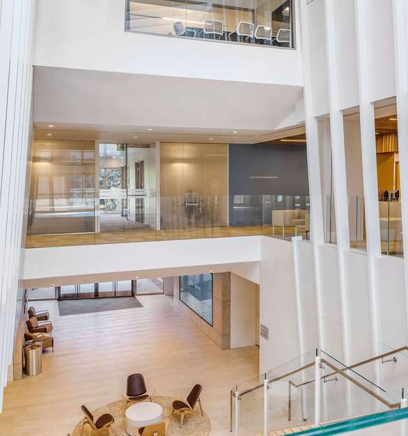 Fellert's Even Better Silk is described as smooth and suave and provides seamless sound absorption. Seen here in the beautiful Anderson School of Management at UCLA.