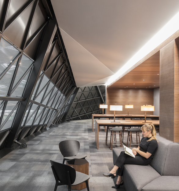 NVIDIA's new Santa Clara HQ features over 17,000 sqft of Fellert Even Better Silk throughout the ceilings, staircases, and auditoriums.