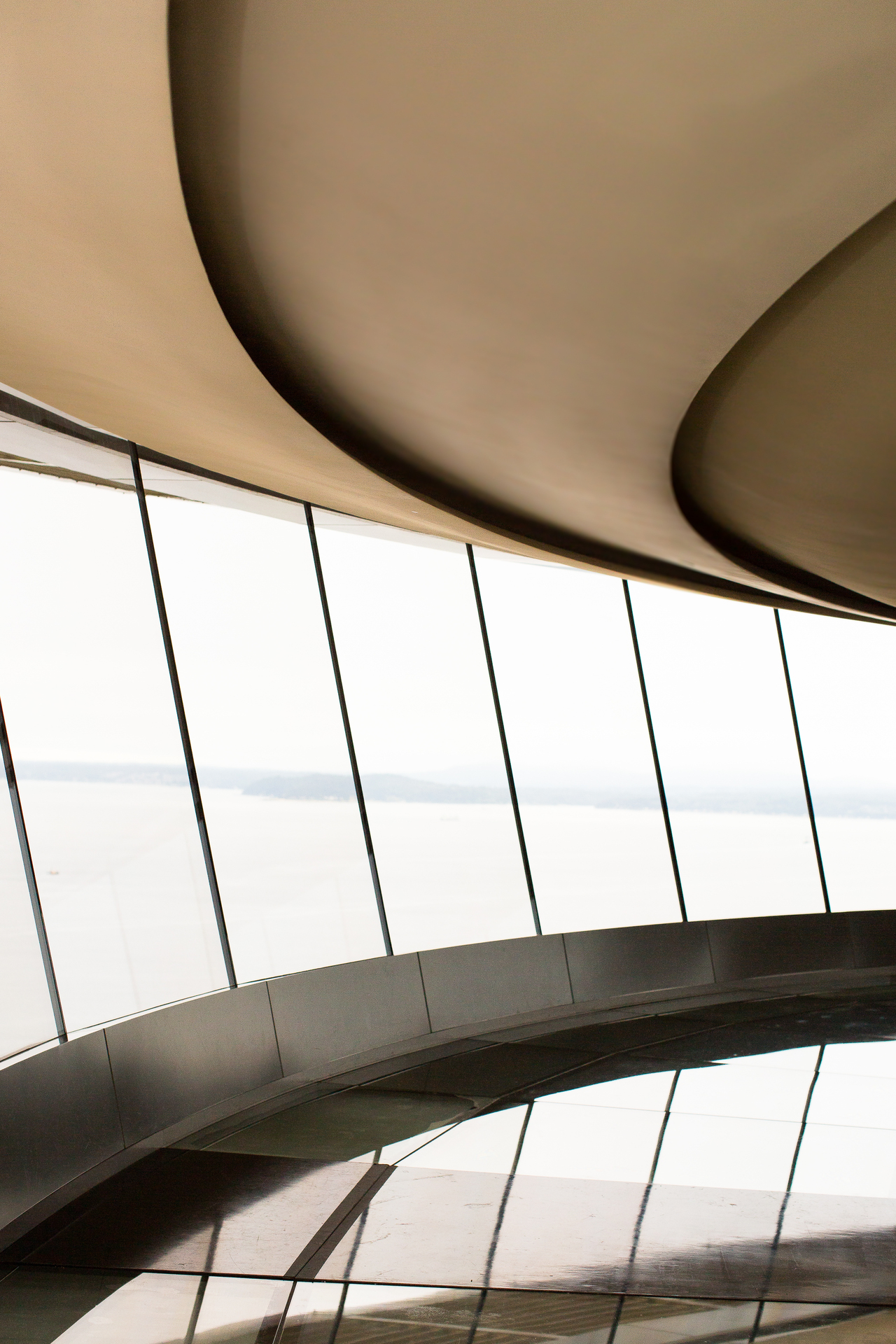 Beautiful, custom ceiling design using Fellert's Even Better Silk at the Space Needle in Seattle, Washington.