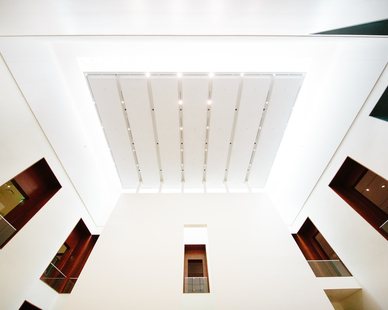 Fellert's Even Better Silk can be applied to just about any surface. You can see it here on the ceiling of the Utah Museum of Fine Art.