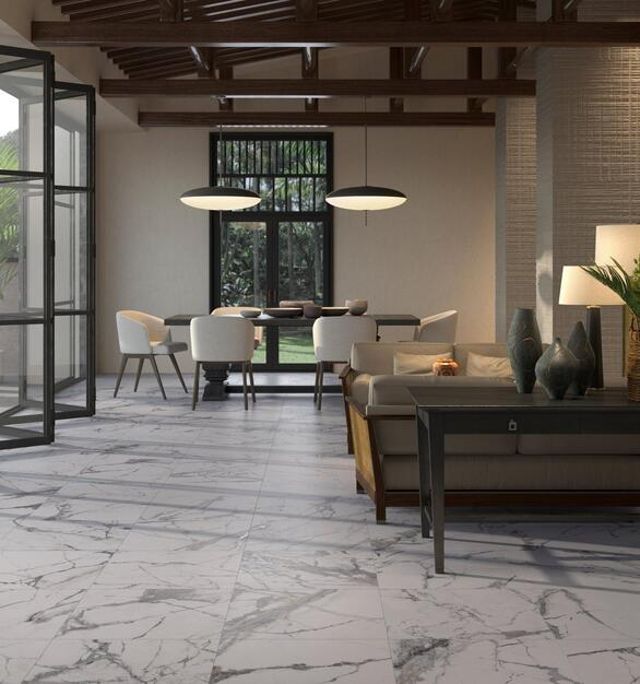 Elevate the look of any space with this gorgeous Rialto Grand Porcelain Tile. This 24 x 24 tile comes in white and has a matte finish.
