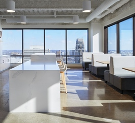 Fluid Interiors Amplifon Minneapolis Minnesota Office Space Design Break Room