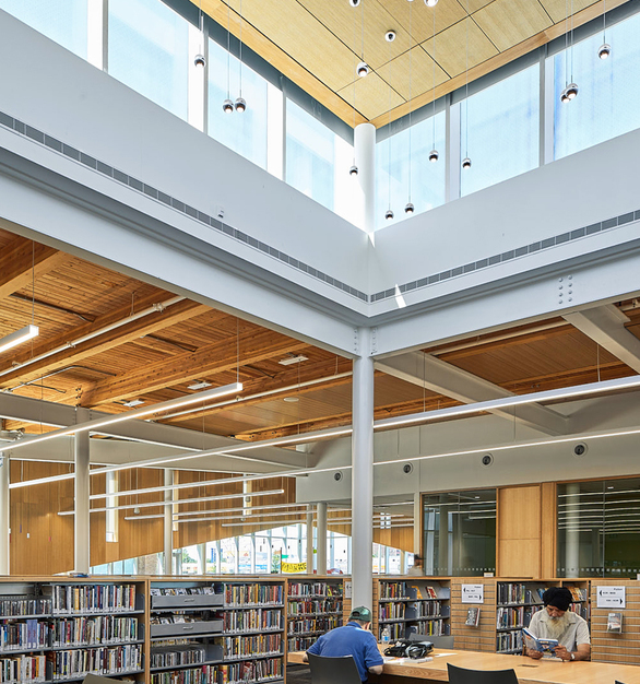 Fluxwerx Albion Library Profile Linear Lighting Luminaire Seating Workspace Area
