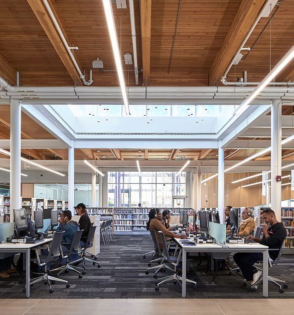 Fluxwerx Albion Library Profile Linear Lighting Luminaire Workstation Computers