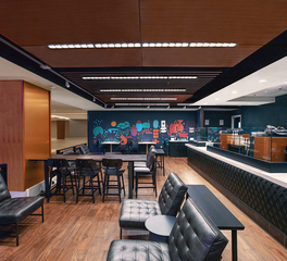 Fluxwerx Aperture Projects Hilton Washington DC Starbucks Coffee Shop Open Seating Area Design