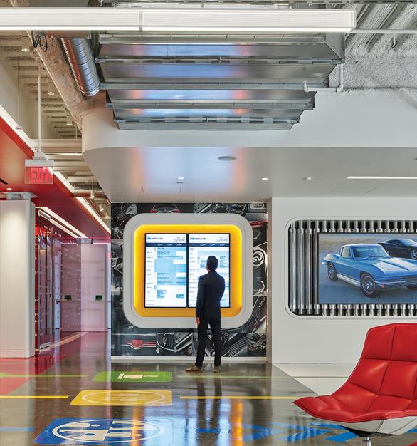 Fluxwerx Edmunds Office Headquarters View Linear Pendant Versatile Common Area
