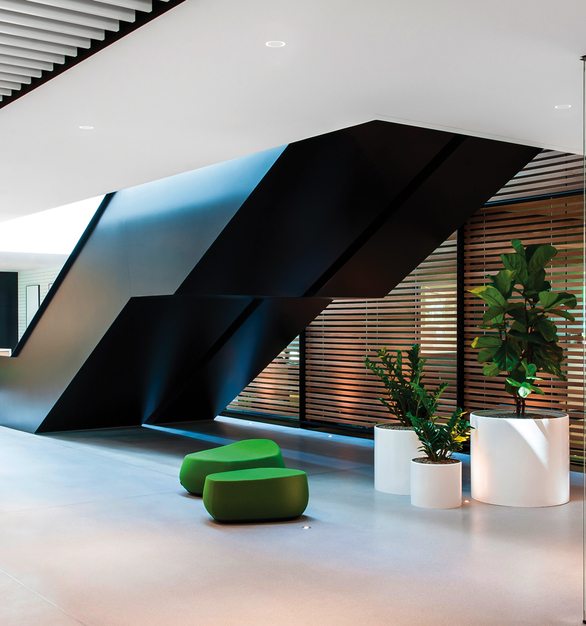 Fluxwerx Portal Recessed Gallery Office Back Hallway Stairway Seating