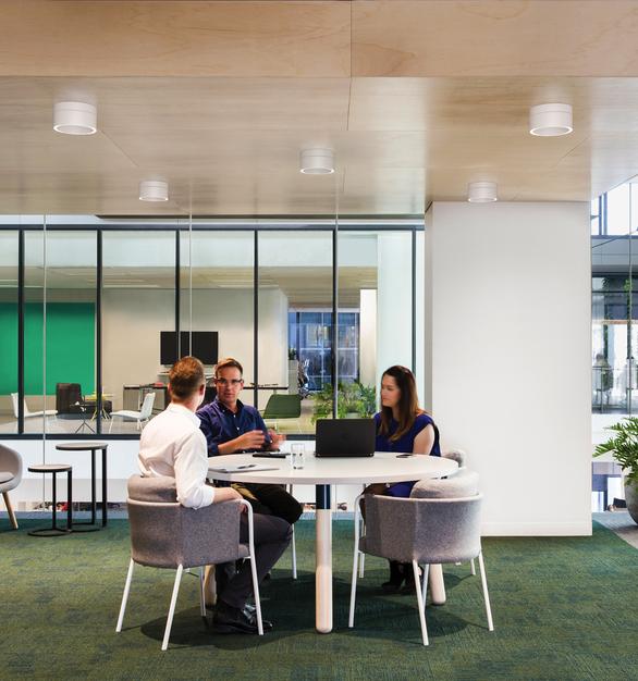 Fluxwerx Portal Surface Gallery Office Wood Open Meeting Area