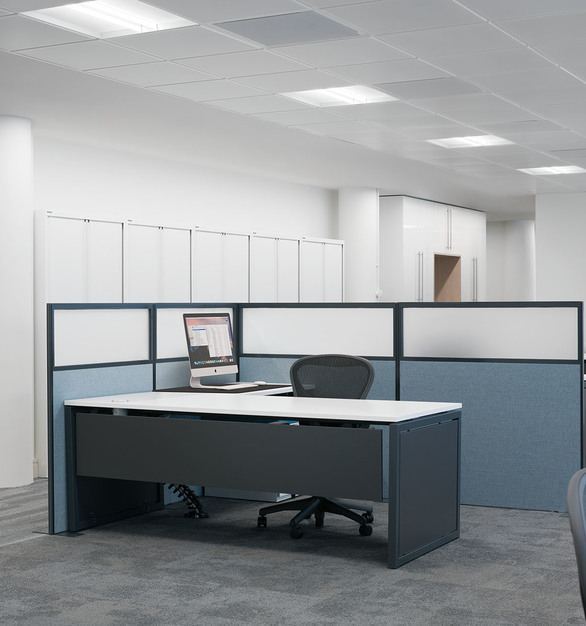 Rails recessed lighting by Fluxwerx compliments any open office space design.