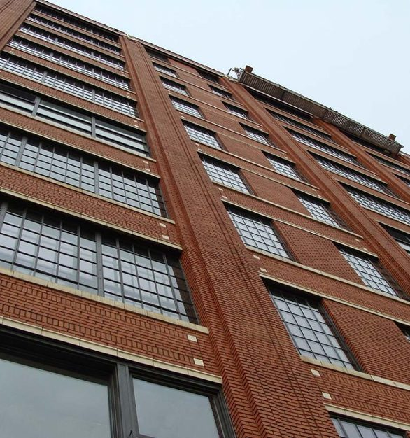 These windows were fitted with SCW620 interior storm windows to achieve the thermal goals for the project.  The remaining openings received SCW2500 Historic Steel Replication windows, custom made to replicate the design and sightlines of the original steel windows and to pass historical review.