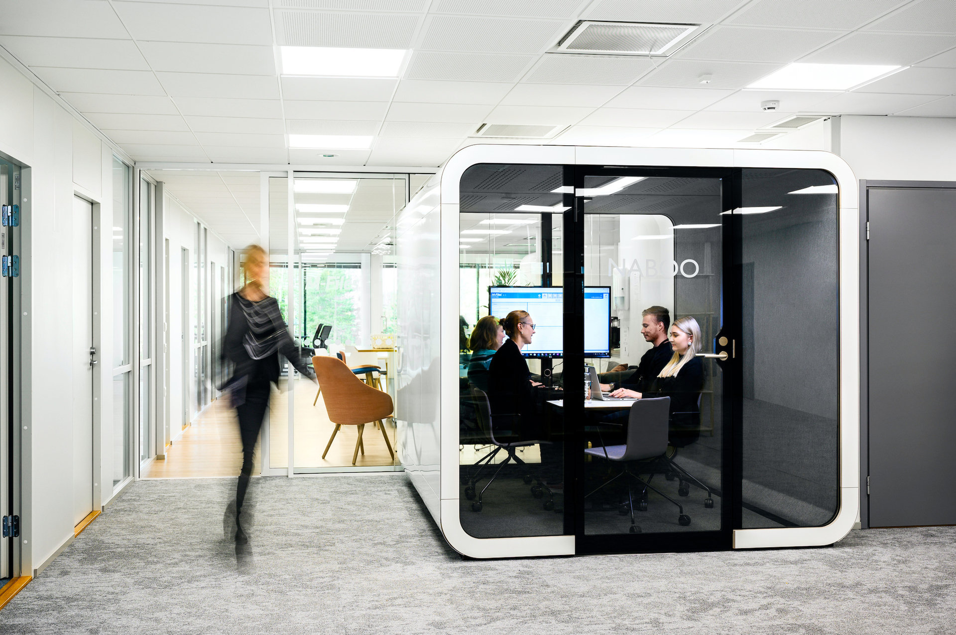 The much admired signature design of Framery pods and office phone booths fit naturally in open offices. Our color schemes and accessories to fit all styles and needs, while sustainable high-quality materials guarantee a quality user experience.