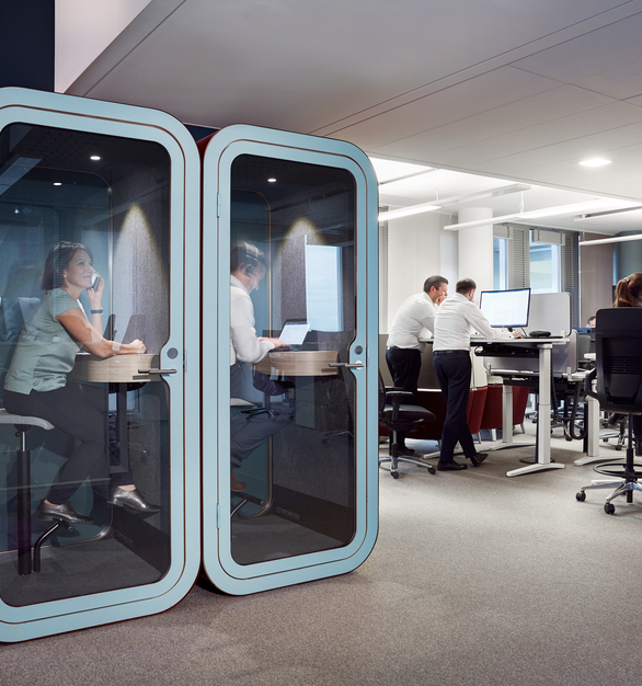 Colliers' Frankfurt office got a major renovation last year, enabling flexible seating with a little help of our soundproof booths. What's Colliers' office-wide favorite? The Framery O.