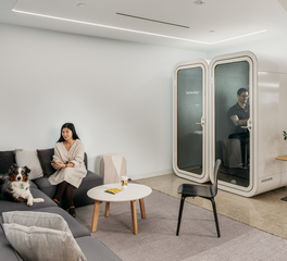 Framery Acoustics Framery O Postmates San Francisco Privacy Office Pod Ambient Office Interior Lounge