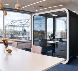 Framery Acoustics Framery Q Open Privacy Booth Natural Light Open Office Design