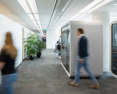 The much-admired signature design of Framery pods and office phone booths fit naturally in open offices. Our color schemes and accessories to fit all styles and needs, while sustainable high-quality materials guarantee a quality user experience.