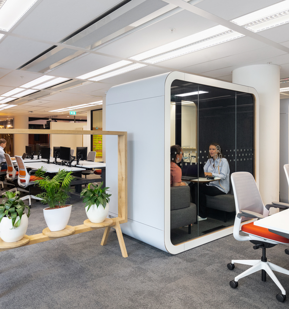 The Framery Q office pod is a perfect place for people to have meetings, brainstorming sessions and important one-on-one conversations in private without disturbing the whole office – or the office disturbing you.