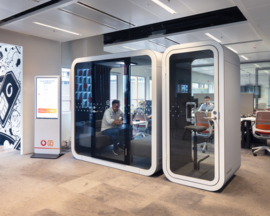 Framery products solve noise and privacy issues in open offices. We work closely with architects and designers to make everyday work life happier and more efficient.